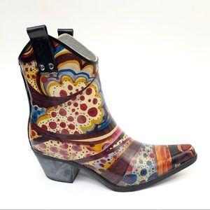 Nomad western rain mud puddle boots sz 7 colorful